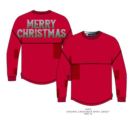Spirit Jersey Merry Christmas Tee