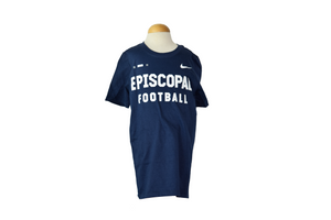 Nike Youth EPISCOPAL FOOTBALL Navy Tee