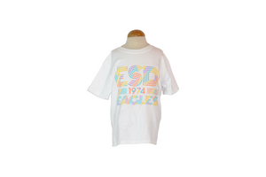 Comfort Wash Youth Retro Multicolor Tee