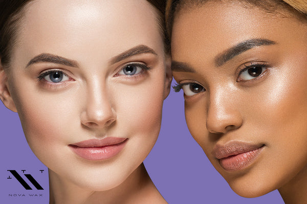 two women with smooth glowing skin