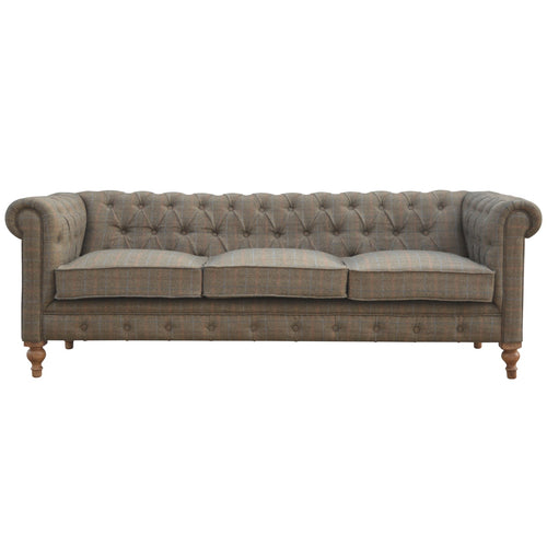 Tweed 3 Seater Chesterfield UK only