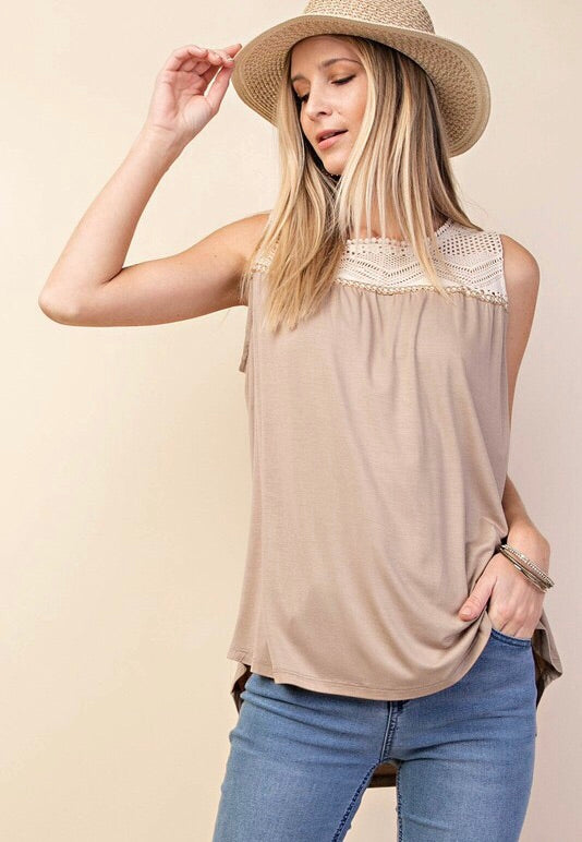 Taste of Lace Sleeveless Top
