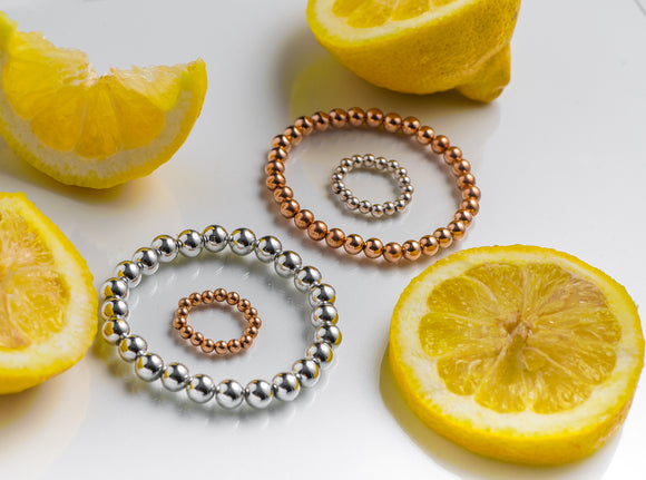 Rose Gold and Silver bracelets