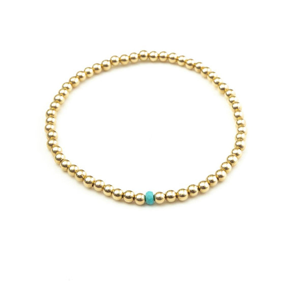 JEN TURQUOISE BEAD ANKLET