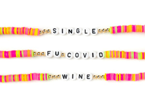 NEON MULTI COLOR NAME BRACELET