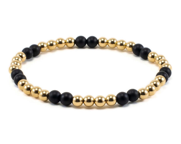 NALIA BLACK/GOLD BRACELET SET OF 3