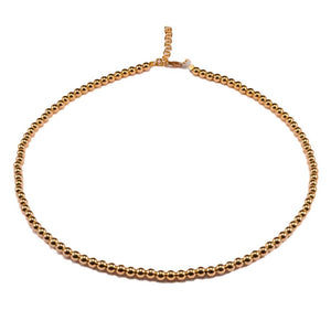 MADISON 4 MM YELLOW GOLD CHOKER