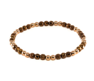 ALENA ROSE GOLD CHOCOLATE BRACELET