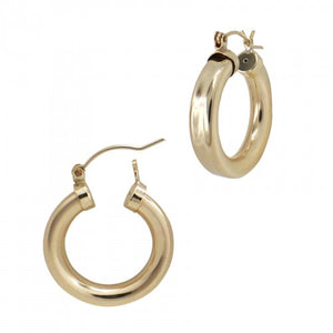 SIENNA 12 MM GOLD THICK HOOPS