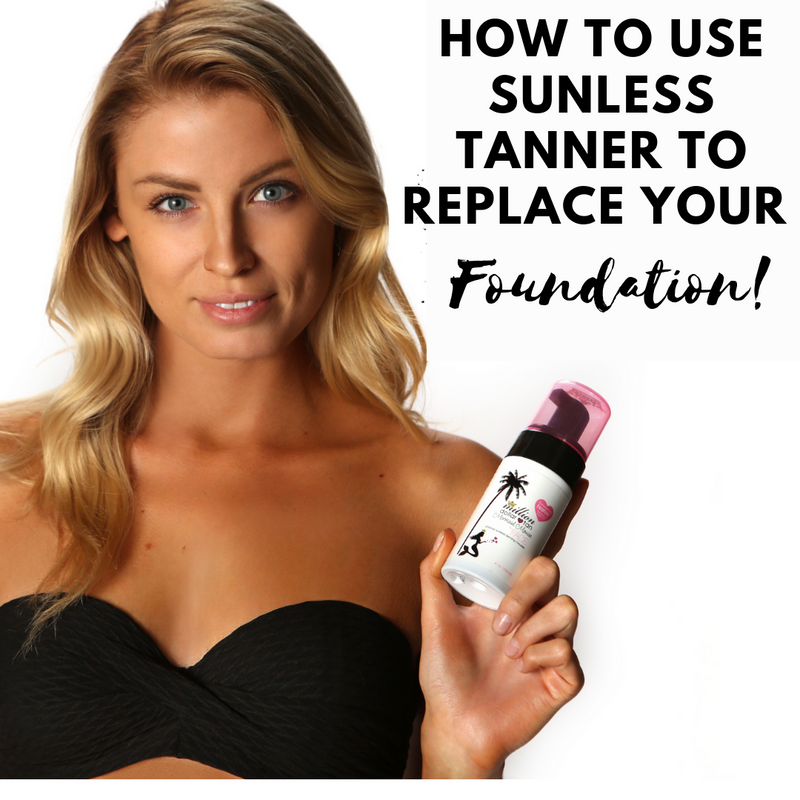 how to use sunless tanner to replace your foundation