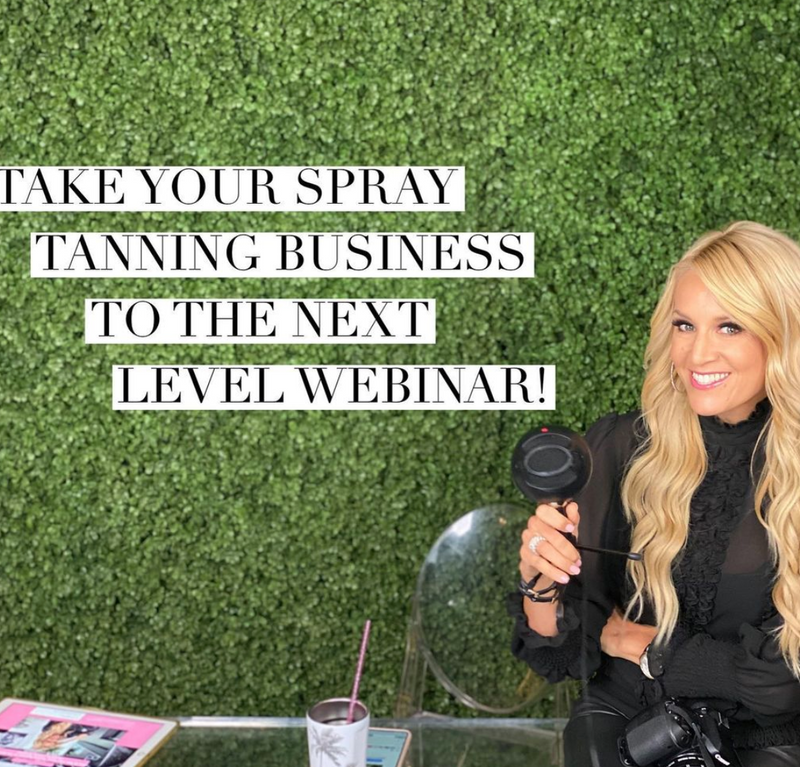 take your spray tan business to the next level webinar with lindsay dickhout