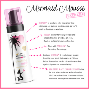 Mermaid Mousse Extreme Face and Body - Dark Sunless Tanning Mousse