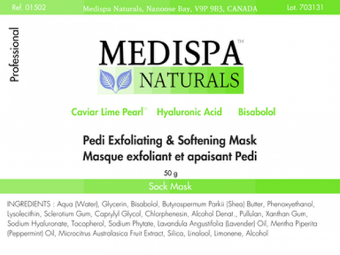 Medispa Naturals Pedi Exfoliating & Softening Mask (socks)