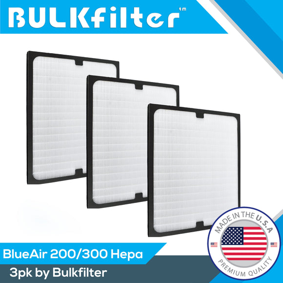 BlueAir 200/300 Premium Hepa Replacement Filters Hepa BulkFilter 3 Pack