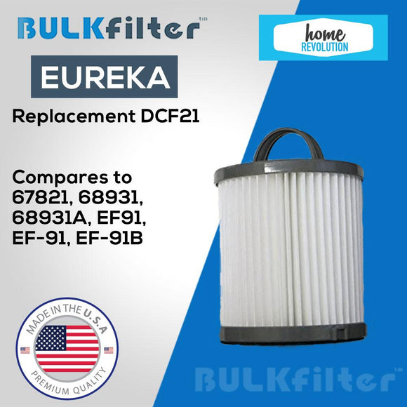 Eureka Reusable Allergen Filter Replacement-DCF21 simple BulkFilter 1 Pack