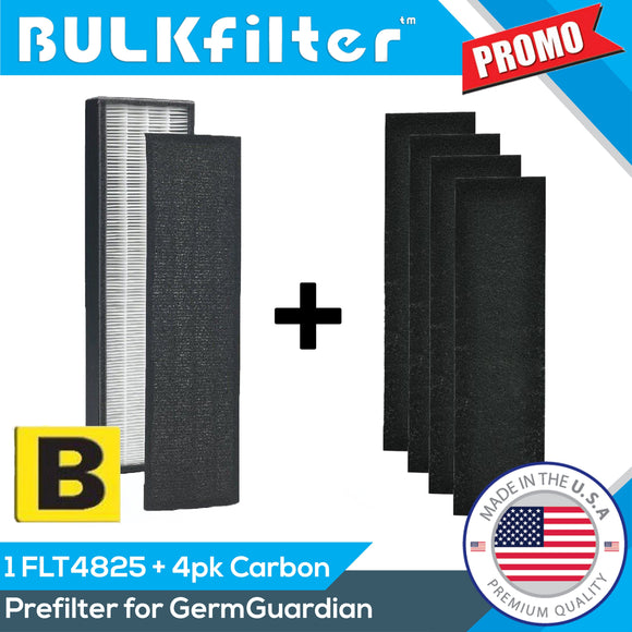 GermGuardian FLT4825 AC4825 Filter B Premium Replacement Bundle Bundle BulkFilter