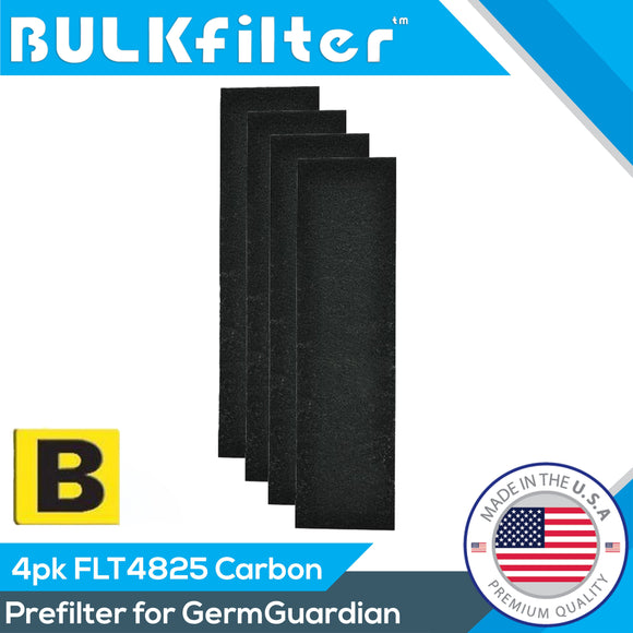GermGuardian FLT4825 Filter B Premium Carbon Filter AC4825 Carbon Filter BulkFilter 4 Pack