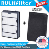 Holmes Hapf600 Filter B Replacement Hepa Hepa BulkFilter 1pk Hepa 2 Pack (Change Every 2-3 Months)