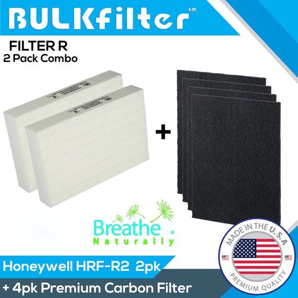 Honeywell HEPA Filter R HRF-R2 for HPA 200 Bundle BulkFilter 2 Hepa + 4pk Carbon