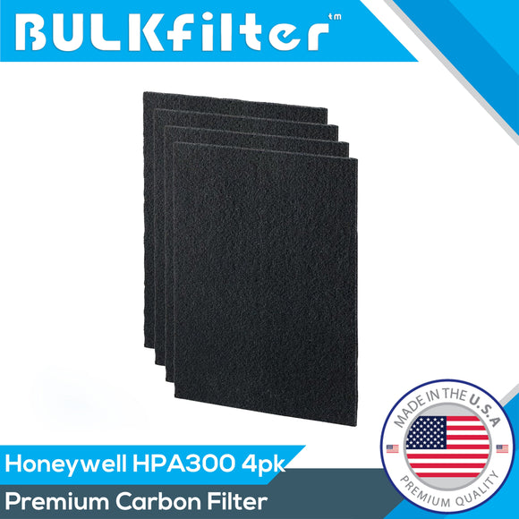 Honeywell HPA 300 Filter R Premium MERV 14 Carbon Filters Carbon Filter BulkFilter 4 Pack