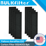 Premium Carbon Filters for Fellowes AeraMax100 - 9324001 Carbon Filter BulkFilter 8 Pack