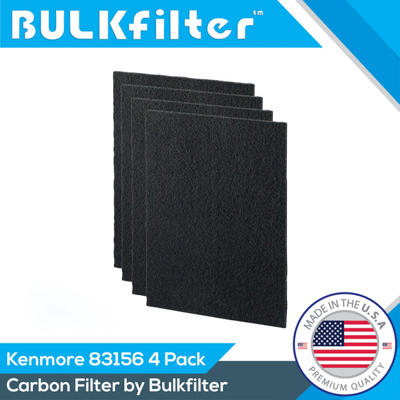 Premium Carbon Prefilters for Kenmore 83156 | 83250 | 85250 | MERV 14 Carbon Filter BulkFilter 4 Pack