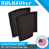 "Premium MERV 14 Carbon PreFilters for Hunter 30901 Series | 16"" x 30"" Carbon Filter BulkFilter 2 Pack"