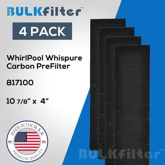 Whirlpool Whispure Portable Tower Air Purifier Pre-Filter - 817100 simple BulkFilter 4 Pack