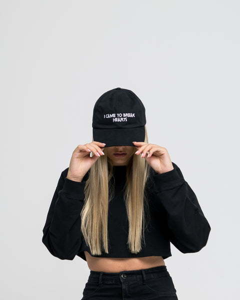 Nasaseasons I came to break hearts black embroidered baseball hat- Bonvion