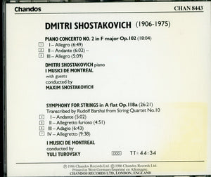 SHOSTAKOVICH PIANO CONCERTO NO.2-Shostakovich etc. [CD]