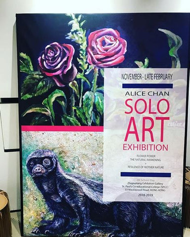 solo art exhibition alice chan art