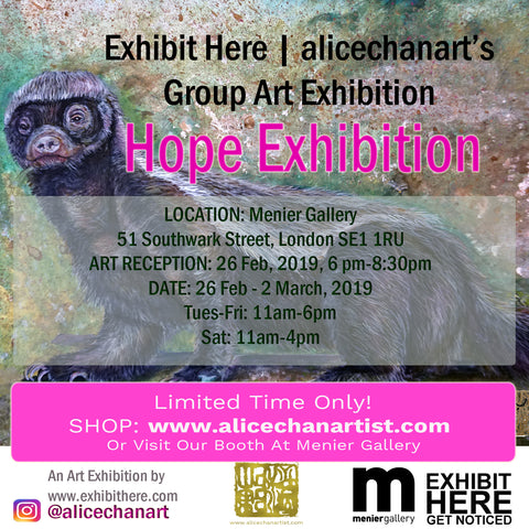 exhibit here and menier gallery in london art scene