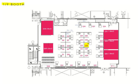 location of alice booth on floor first no 18