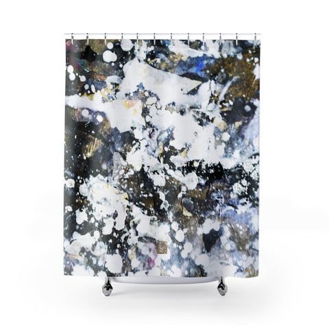 "White Shower Curtains, Silver Galaxy Shower Curtains, Abstract Chinese Art Shower Curtains, Galaxy Art Shower Curtains, Galaxy Chinese Art Shower Curtains, Contemporary Art Shower Curtains, Abstract Art Shower Curtains, Modern Chinese Polyester 71"" x 74"" Bathroom Curtains-Printed in USA, Long Hookless Shower Curtains, Abstract Shower Curtains For Almost Any Popular Bathroom Decor, Modern Shower Curtains, Watercolor Shower Curtains"