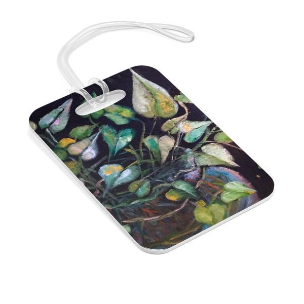 """Golden Pothos Plant"", Green Houseplant, Glossy Lightweight Plastic Bag Tag, Made in USA - alicechanart"