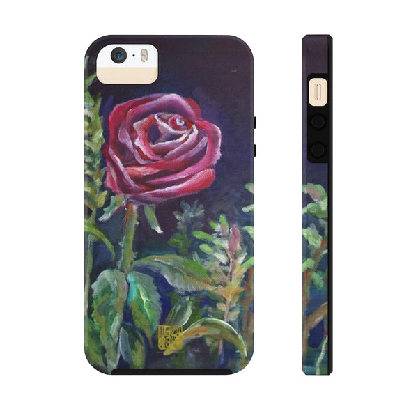 Red Rose Art iPhone Case, Case Mate Tough Samsung or Phone Cases-Made in USA