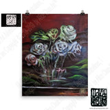 """Ghost Roses"", Floral Flower, Poster Art Print, Made in USA - alicechanart"