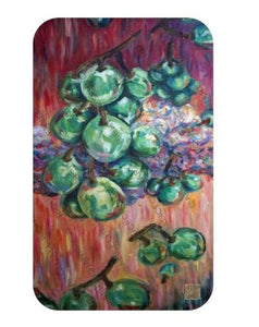 Falling Green Grapes Fruit Art Microfiber Anti-Slip Bath Mat- Printed in USA - alicechanart