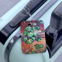 """Falling Green Grapes From The Red Hot Sky"", Glossy Lightweight Plastic Bag Tag, Made in USA - alicechanart"