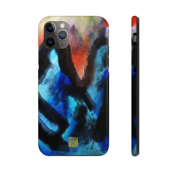 Blue Chinese Mountains iPhone Case, Case Mate Tough Samsung or Phone Cases-Made in USA