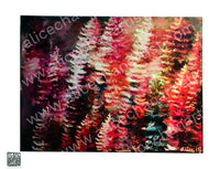 """Colorful Pines"", 2015. 18""x24"" Mounted Canvas Art Print, Made in USA - alicechanart"