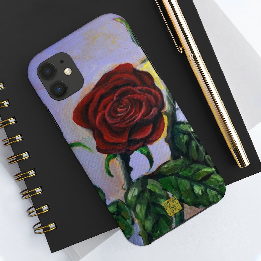 Rose Art iPhone Case, Case Mate Tough Samsung or Phone Cases-Made in USA