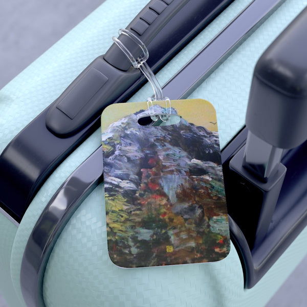 Mount Rainier Pacific Northwest PNW Moutain Cascades, Glossy Lightweight Plastic Bag Tag, Made in USA