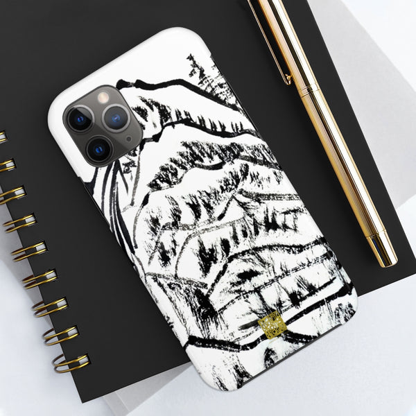 Chinese Ink Art iPhone Case, Black White Case Mate Tough Samsung or Phone Cases-Made in USA