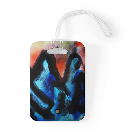 Blue Mountain Asian Contemporary Chinese Art, Glossy Lightweight Bag Tag, Made in USA - alicechanart
