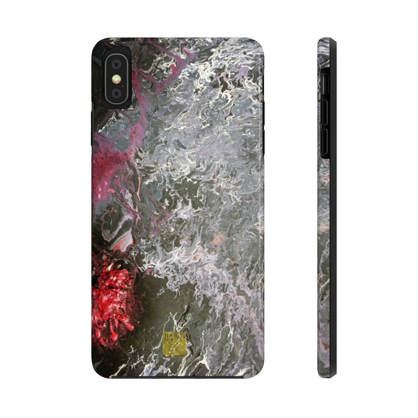 Grey Abstract Art iPhone Case, Case Mate Tough Samsung or Phone Cases-Made in USA