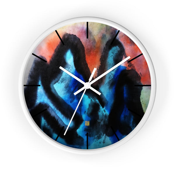 Blue Mountain Asian Contemporary Art Large Modern 10 inch Wall Clock, Made in USA