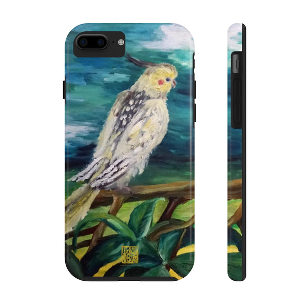 White Parrots Animal iPhone Case, Case Mate Tough Samsung or Phone Cases-Made in USA