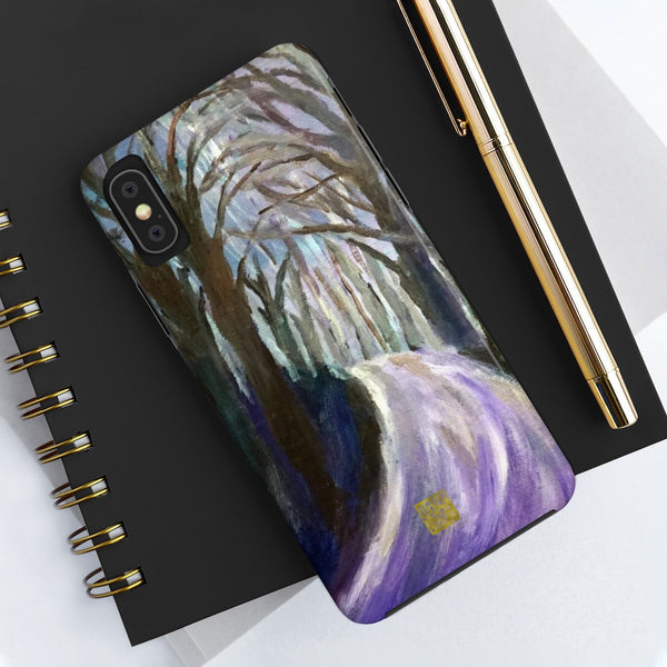 Purple Hike Art iPhone Case, Case Mate Tough Samsung or Phone Cases-Made in USA