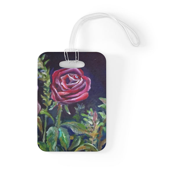 Vampire Roses Floral Red Rose Art, Glossy Lightweight Plastic Bag Tag, Made in USA